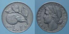 REPUBBLICA ITALIANA RARA 1 LIRA 1946 R ARANCIA bel BB