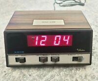 Vintage Sears Roebuck Tradition Digital Alarm Clock from the 1970s Model #47193