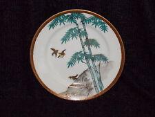 Japanese Side Plate Eggshell Porcelain Kutani Occupied Japan Era Birds & Bamboo