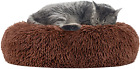 Cloudjoy Dog Bed Donut Cuddler Washable, Calming Puppy Dog Bed Fluffy Cat Bed