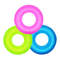 Inflatable Swimming Ring Pool Float Water Toys Fluorescence For Kids Adults