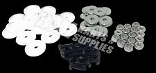 Go Kart Racing White Plastic Washer for Fiberglass Body Mounting Kit Set NEW