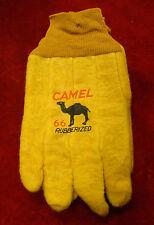 Vintage Pair of Camel 66 Rubberized Farm Gloves