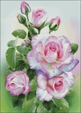 Needlework Crafts Full Embroidery Counted Cross Stitch Kits - Morning Roses