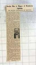 1961 East Goodwin Lightship Breaks Loose, Ernest Harvey Skipper