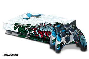 Designer Skin for Xbox One X Gaming Console +2 Controller Sticker Decals BLUBIRD