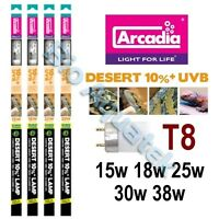 Arcadia T8 Reptile Lamp Tube Euro Range D3 Desert 10% UVB - 15w 18w 25w 30w 38w