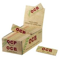 10  OCB organic hemp 10 x 50 sheets= 500 Cigarette Tobacco Rolling Papers