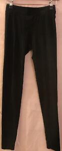 XS VICTORIA'S SECRET VS PINK Black Basic Simple Dog Logo Leggings + Defect Sewn