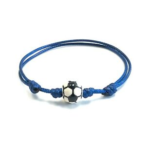 Soccer Charm Beads Cord Friendship Bracelet by Ruigos Pulsera