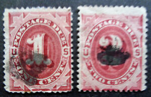 US#J22-23 used 1891 1c-2c postage dues. We combine shipping