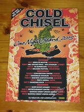 COLD CHISEL - 2015 Australia Tour SIGNED AUTOGRAPHED Poster - JIMMY BARNES