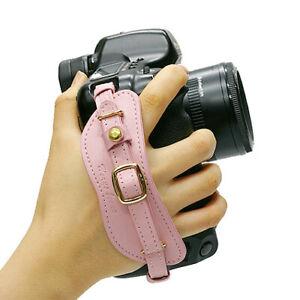 HORUSBENNU D-SLR Camera Universal Leather Wrist Hand Grip Strap(BK/BR/WH/PK/RE)