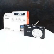 ^Sony Cybershot DSC-W800 Black Digital Point and Shoot Camera 5x Optical Zoom