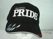 Ball Cap, Indian Design, Native Pride w Dream Catcher with Feather Drops, Black