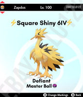 ZAPDOS GALAR NORMAL / ⚡SHINY⚡ 6IV ALL-OUT ATTACK - POKEMON SWORD AND SHIELD