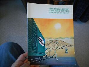 1960 Annual Report New York Central Railroad Company illustrated  Trains vintage