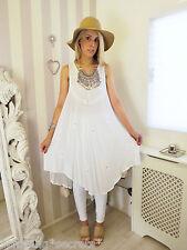 Vintage Bohemian summer Ethnic Free Flowy Hippy Boho Festival Gypsy Dress 10 12