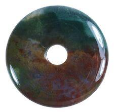 ÁGATA DE MOHO Donut Colgante Gema 40mm piedra de cristal PI piedra