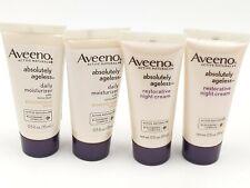 Aveeno ABSOLUTELY AGELESS Facial Starter Kits Day/Night Cream  Exp 6/17 0.5oz