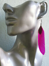 Cute Feather Earrings Yellow, Cerise, White - Clip-on Option