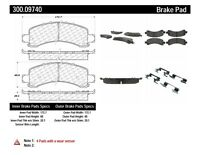 Centric Parts 300.09740 Semi Metallic Brake Pad with Shim