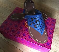 NIB TORY BURCH THATCHED PERFORATED LEATHER THONG SANDAL FLIP FLOP SIZE 6.5