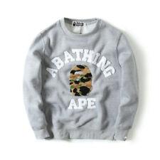 Bape A Bathing Ape Towel Embroidery Monkey Head Hoodie Sweatshirt Pullover