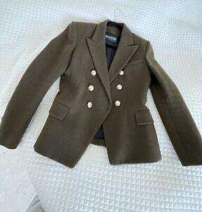balmain jacket green 42