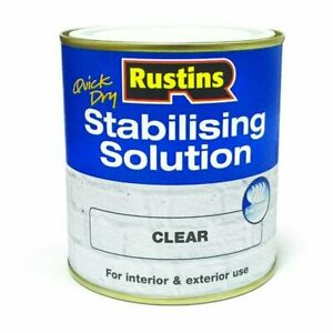 Rustins Quick Dry Stabilising Solution Clear 500ml Binds & Seals Powdery Surface