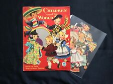 New ListingOriginal Children 'round the World Paper Dolls, Cut Merrill Set, 1955, Voss Art