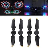 4pcs Low Noise Folding LED Light Flash Propellers for DJI Mavic Pro Platinum