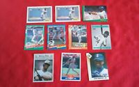 Lot of 10 Ken Griffey Jr. Sr. Baseball Trading Cards Topps Score Donruss Stadium