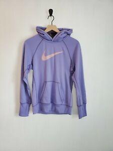 Nike therma-fit purple hoodie M