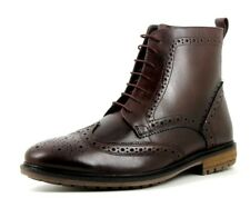 Silver Street London Gerrard Mens UK 11 Burgundy Leather Wingtip Brogue Boots