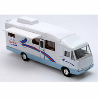 Luxury Camper Van Motorhome Model Car Diecast Toy Vehicle Pull Back White