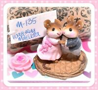 ❤️Wee Forest Folk M-135 Waltzing Matilda Pink Dress Dancing Retired Mice 1986❤️