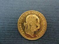 1915 AUSTRIA GOLD COIN UNCIRCULATED 3.45 GRAMS EMPEROR JOSEPH