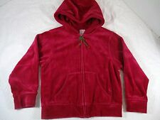 Vintage Gymboree Deep Red Velour Cherry Bling Hoodie Jacket Size 5 Rare HTF G6