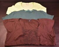 Banana Republic Women's Large Various Styles Tops Lot of 3 T-Shirt Blouse Summer