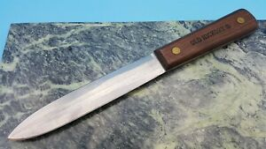 Old Hickory Ontario Carbon Steel Sticker Fixed Blade Knife USA