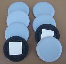 Lot de 8 Patins Glisseurs Téflon,diamètre Ø 50 mm, patin glisseur (en Vrac)