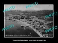 OLD LARGE HISTORIC PHOTO OF SOINTULA BRITISH COLUMBIA, VIEW OF THE TOWN c1940