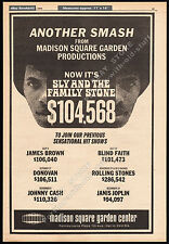 Sly And The Family Stone_Orig. 1970 Trade Ad promo_poster_Madison Square Garden