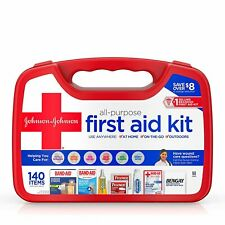 Johnson And Johnson Red Cross All Purpose First Aid Kit 140 Count