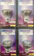 LIVARNO LUX 4 x LED LAMPE LED Light Bulb GU10 warmweiß 5 W 20000 h A GU 10 NEU