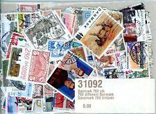 700 World wide different DENMARK stamps.