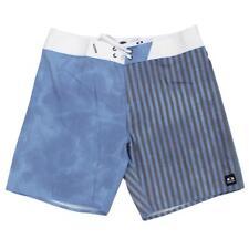 Oakley RAIL Shorts Blue Stripe 34 L Mens Casual Boardshort Swim Surf Beach Short