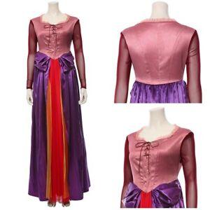 Hocus Pocus Adult Sarah Sanderson Cosplay Costume Suit Dress Halloween Outfit