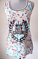 NEW JUICY COUTURE PARADISE MULTICOLOR LEOPARD GRAPHIC TANK RACER BACK TOP MED
